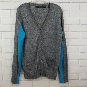 Sean John Cotton Blend 6 Button Cardigan Sweater